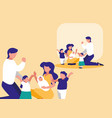 cute family with childrens avatar character vector image vector image