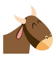 cute head ox manger character image vector image vector image