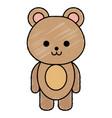 cute little bear character vector image