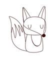 cute little fox animal cartoon isolated design vector image vector image
