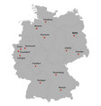 detailed map of the germany vector image vector image