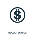 dollar symbol icon mobile app printing web site vector image vector image