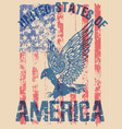 eagle tee poster graphic design vector image vector image