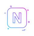english alphabets icon design vector image vector image