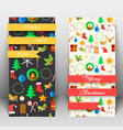 festive greeting vertical cards vector image