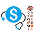 financial health icon with love bonus vector image