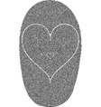 fingerprints and heart vector image