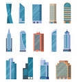 flat skyscrapers exterior modern city vector image vector image