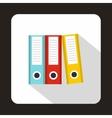 Folders icon flat style vector image