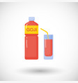 goji berries juice flat icon vector image vector image