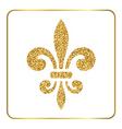 Golden fleur-de-lis heraldic emblem 2 vector image vector image