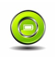 Green glossy round button Battery vector image vector image