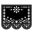 halloween papel picado greeting card design vector image vector image