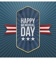 Happy Memorial Day textile Label and Ribbon vector image vector image