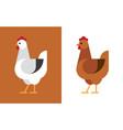 hen flat icon vector image vector image