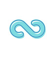 infinity symbol blue color symbolic repetition vector image