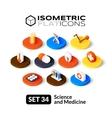 Isometric flat icons set 34 vector image vector image