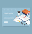 learning concept landing page vector image vector image
