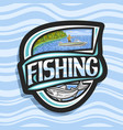 logo for fishing vector image