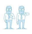 man shows gesture like dislike vector image