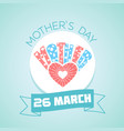 march mothers day vector image vector image