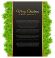 merry christmas greeting design with green pine vector image vector image