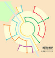 metro map imaginary underground map vector image vector image