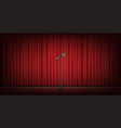 microphone stand on stage red curtain background vector image