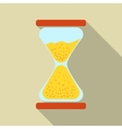 Modern flat icon of hourglass vector image