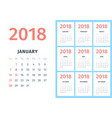 monthly calendar sheets for the calendar for 2018 vector image