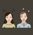 not mutually feeling cartoon people vector image vector image
