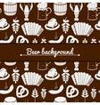 Oktoberfest monochrome background vector image vector image
