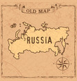 old style russia map vector image