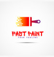 paint template logo vector image
