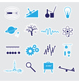 physics stickers set eps10 vector image vector image