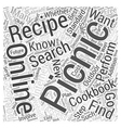 Picnic Recipes How to Find Them and Why You Should vector image vector image