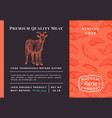 premium quality meat abstract packaging vector image vector image