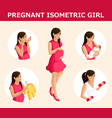 qualitative isometry a set 3d pregnant women vector image vector image
