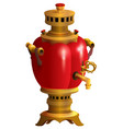 red samovar traditional russian kitchenware vector image vector image