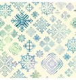 Seamless snowflake winter watercolor Christmas bac vector image vector image