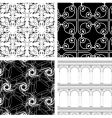 set of 4 textures vector image vector image
