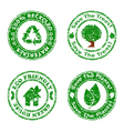 set of grunge eco stamps green vector image