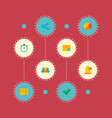 set of project icons flat style symbols with timer vector image vector image