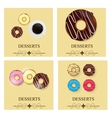 Set of the dessert menu vector image vector image