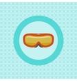 Ski goggles flat icon vector image vector image