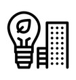 smart city buildings icon outline vector image vector image