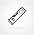 spirit level trendy flat line black icon eps10 vector image
