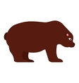 stock bear isolated icon design vector image