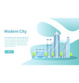 tall skyscrapers modern city online web page vector image
