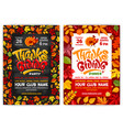 thanksgiving party poster template vector image vector image